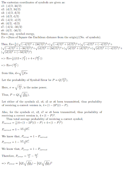 Derivation is 8-QAM Probability of Symbol Error