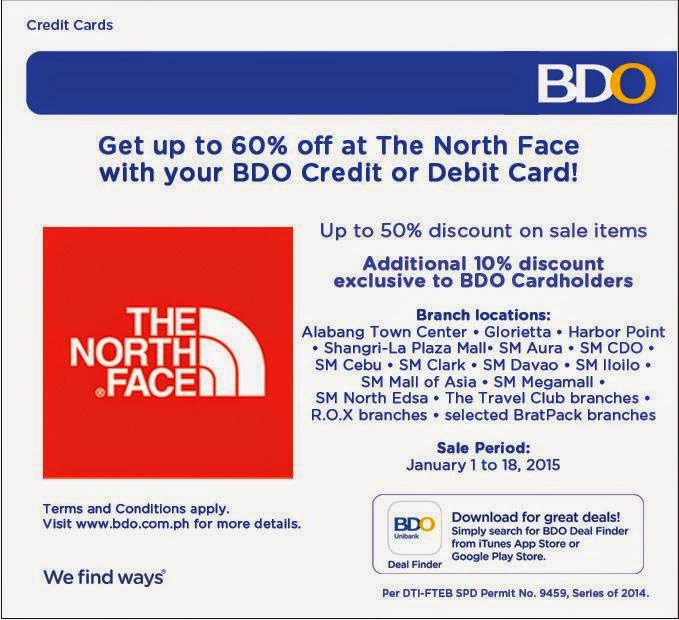 96dcce37d Manila Shopper: The North Face SALE x BDO Cards Exclusive Additional ...