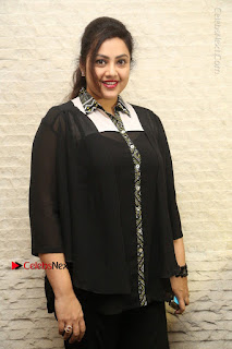 Tamil Actress Meena Latest Stills in Black Dress at TSR TV9 Awards Press Meet  0032.JPG