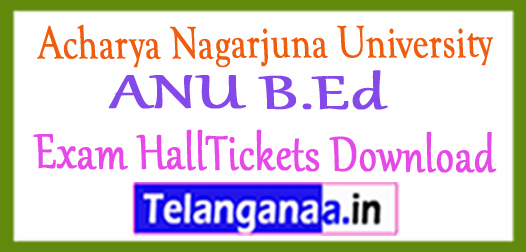 Acharya Nagarjuna University ANU B.Ed Exam HallTickets Download