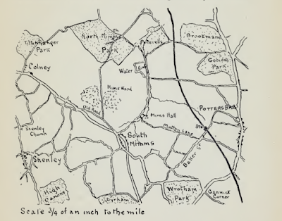 Screen grab of a sketch of the map for the walk, probably drawn by Bernard Alfieri in the early 1890s
