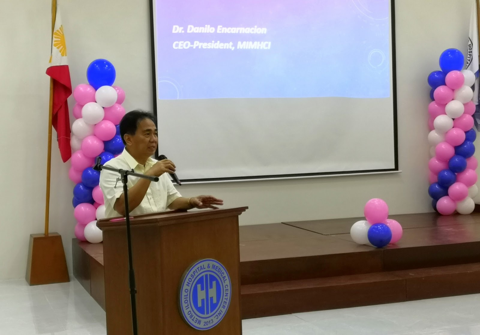 MIHMCI President and CEO Dr. Danilo Encarnacion welcomed kids with cancer at the hospital.