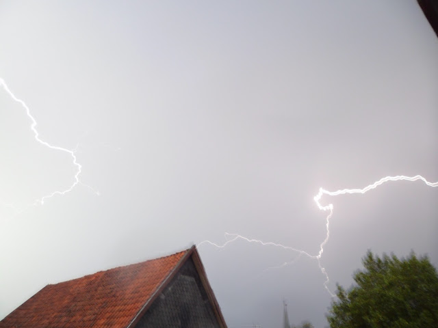 Thunderstorm and spectacular lightning