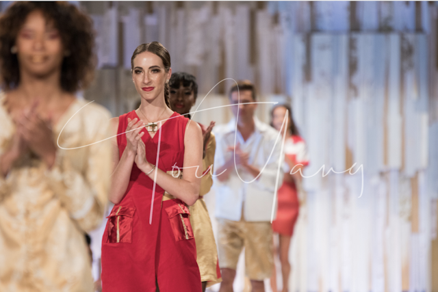 Morgan Pashen runway model wearing Natasha Shangari