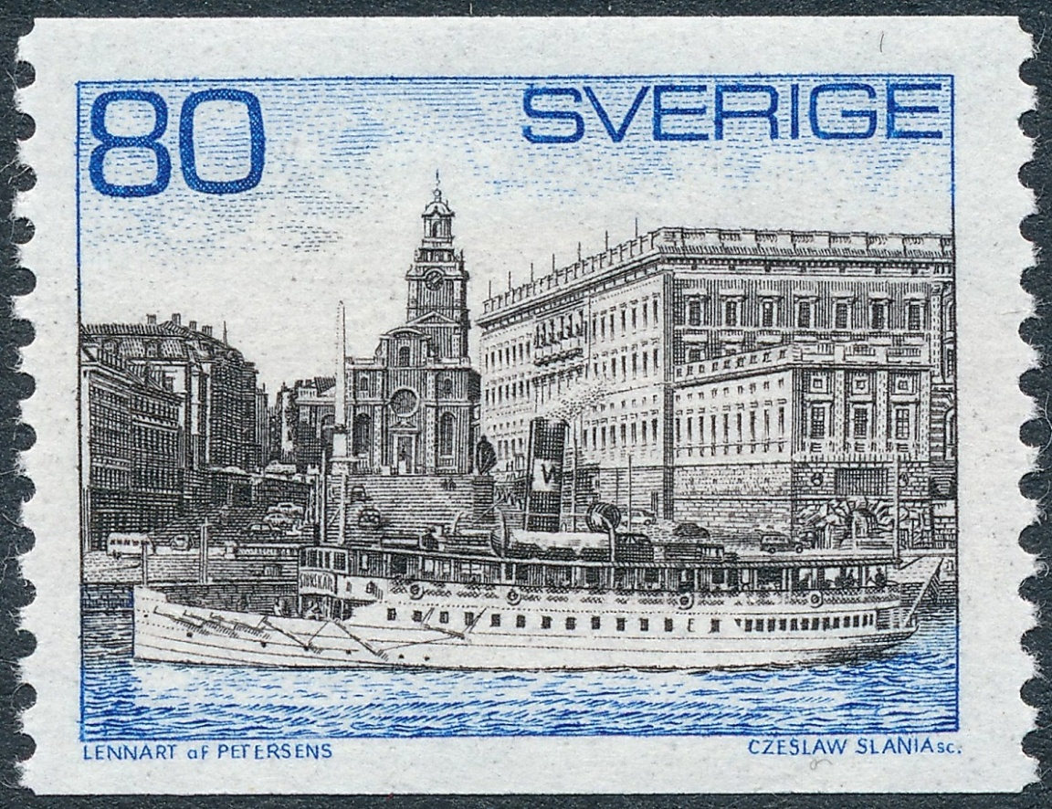 The Stamp Shows SS Storskar Former Strangenas Express Which Is One Of Large Steam Powered Archipelago Ships Still In Operation