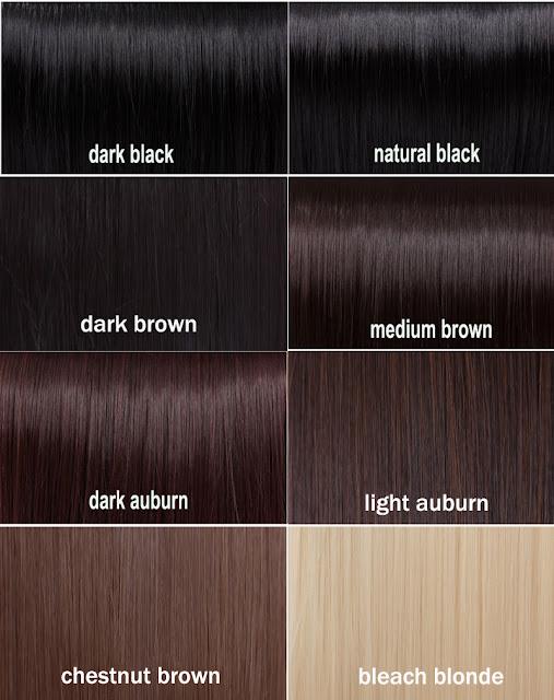 Shades of black hair color chart - dark hair color chart