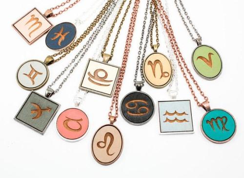 Zodiac Sign Cameo Pendant