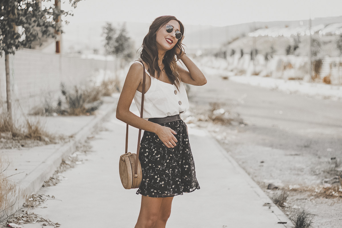 d4928151a5a FLORAL PRINT SKIRT FOR SUMMER | Shoes and Basics | Bloglovin'