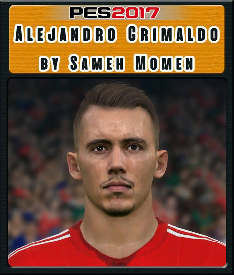 PES 2017 A. Grimaldo face by Sameh Momen