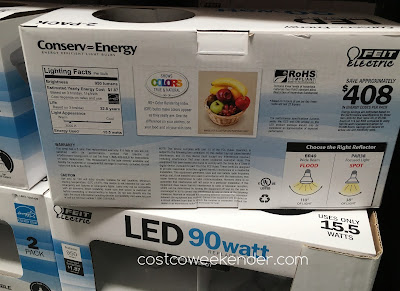 Costco 1041429 - Avoid a dark house with the Feit Electric LED 90 Watt Par 38 Spot Replacement