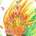 Pour un défi sur un autre forum dont le théme est le carnaval de rio. Pose d'aprés photo.  Les plumes sont ratées mais ce dessin me donne quand même envie de danser et de chanter.