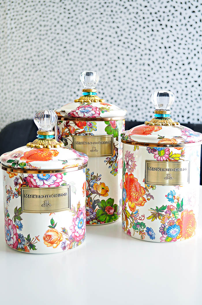 MacKenzie-Childs Flower Market Kitchen Canister Review | by monicawantsit.com