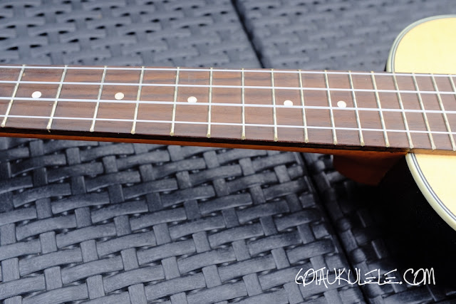 Clearwater roundback concert ukulele fingerboard