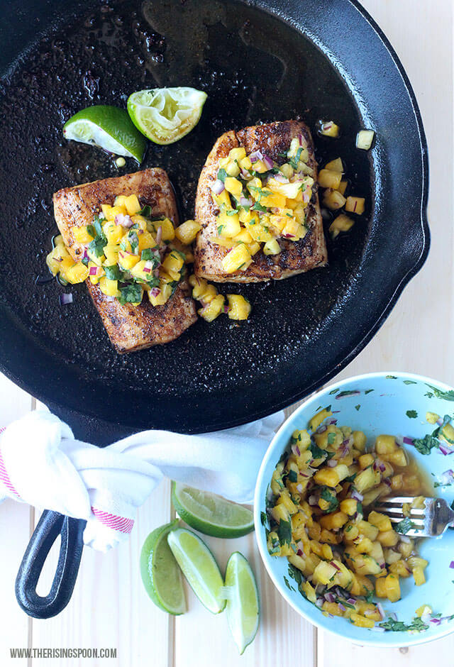 Top 10 Most Popular Recipes On The Rising Spoon in 2017: Pan-Seared Mahi-Mahi with Pineapple Salsa