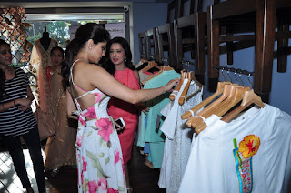 Shamita Shetty Pictures in Floral Dress at Amy Billimoria Launch