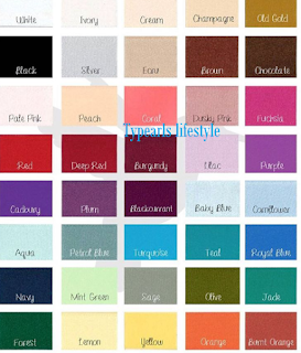 120 Matching color combinations for weddings