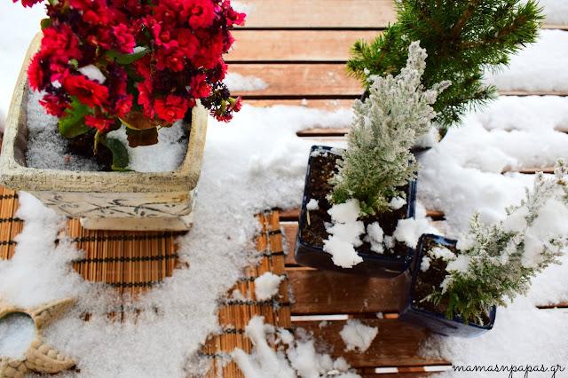 χιόνια τον χειμώνα
