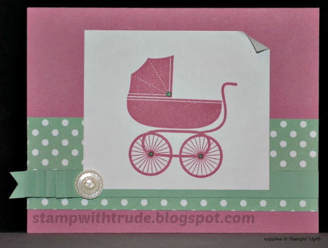 Something for Baby, Stampin' Up!, Stamp with Trude, buggy