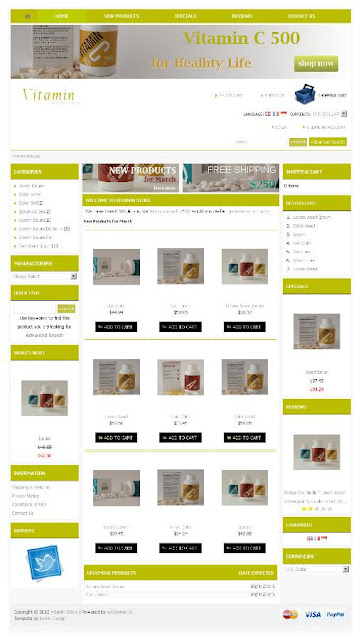 Update Free osCommerce Template Vitamin Store