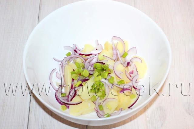 рецепт постного картофельного салата с пошаговыми фото