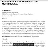 Contoh Jurnal Pendidikan Islam, Inklusif-Multikulturalisme, Globalisasi Pdf Download