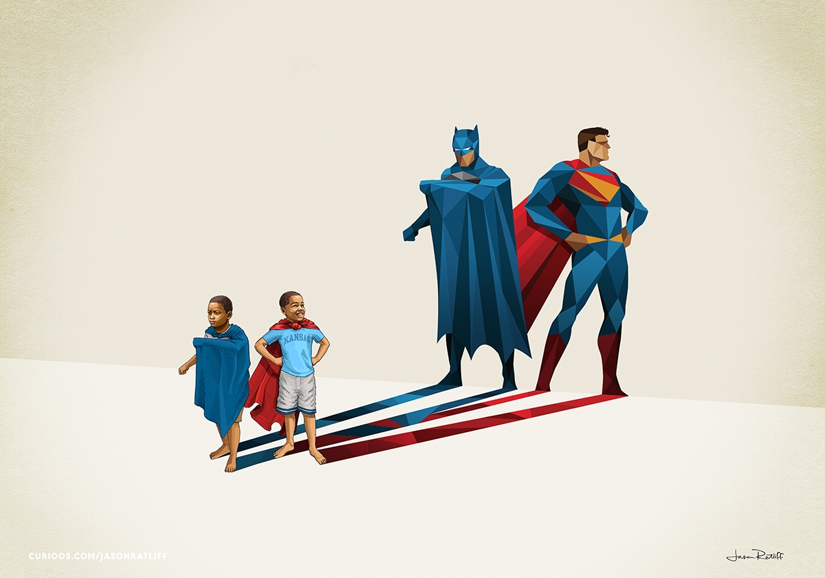 11-Batman-and-Superman-Jason-Ratliff-Comic-Book-Heroes-in-Super-Shadows-II-Illustrations-www-designstack-co