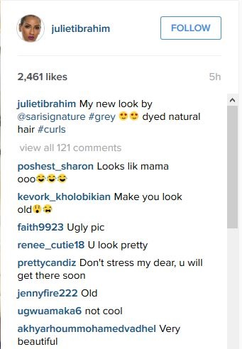 Juliet Ibrahim Goes Grey, Gets Mixed Reactions From Fans (Photo)