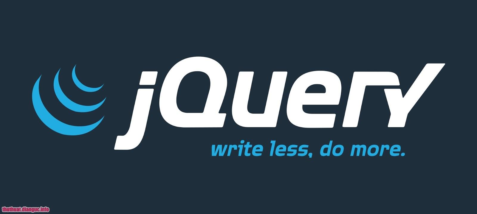 Share Khóa học jQuery cơ bản đến nâng cao tiếng việt