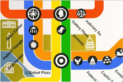 http://transitmaphistory.com/metromapart/washington-subway/lance-wyman/place-and-space-lance-wymans-retrospective-in-monterrey/