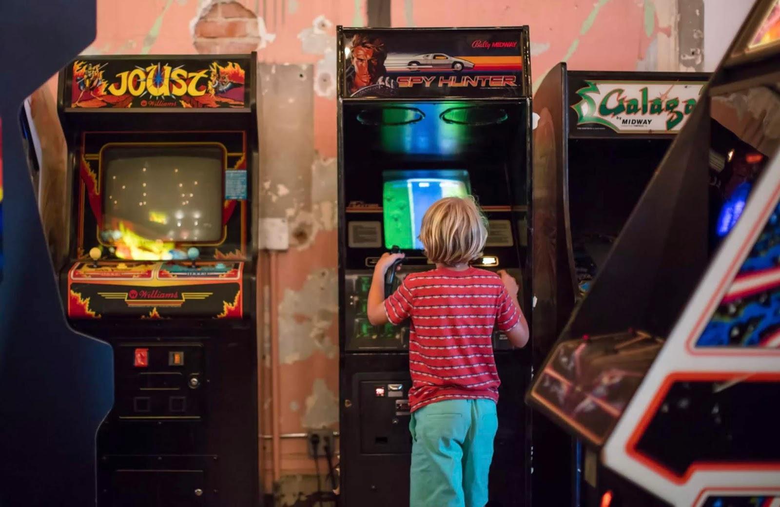 Sala giochi anni 80