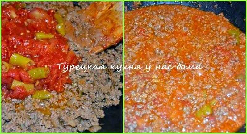 Фарш с томатным соусом для мусаки