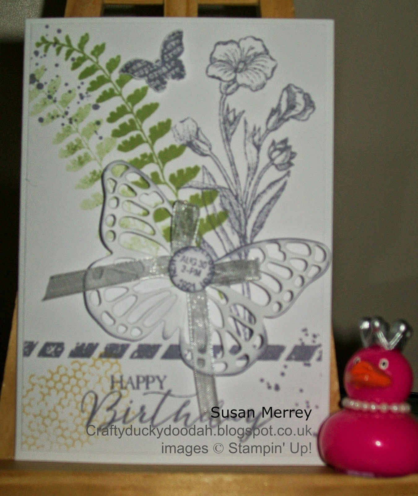 Stampin' Up! Independent Stampin' Up! Demonstrator Made by Susan Merrey Craftyduckydoodah Butterfly Basics