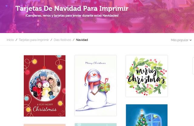 las mejores y más hermosas tarjetas de navidad para imprimir gratis