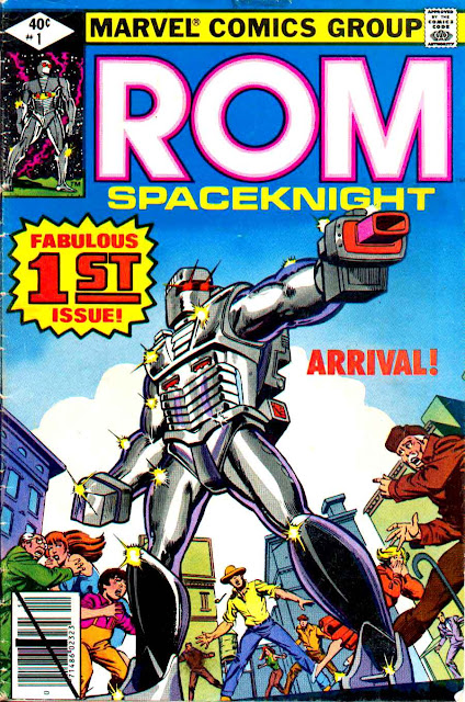 Rom spaceknight v1 #1, 1979 marvel bronze age comic book cover - 1st Rom