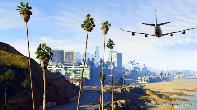 Grand Theft Auto Online Beach Plane Palm Tree - Praia Aviao Palmeira