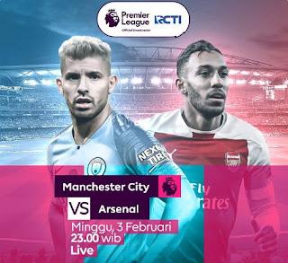 Prediksi Manchester City vs Arsenal - Minggu 3 Februari 2019