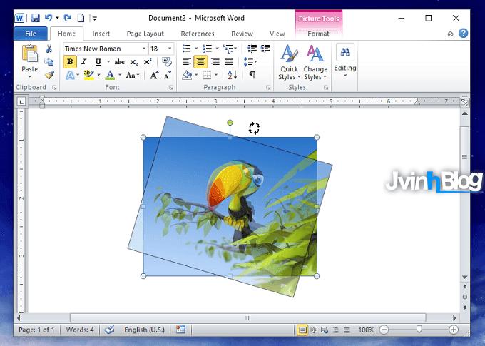 Cách xoay hình ảnh trong Word