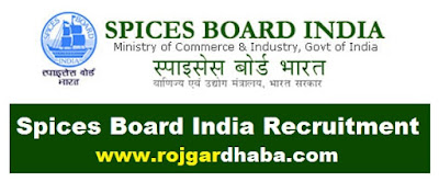 Spices Board India Government Jobs