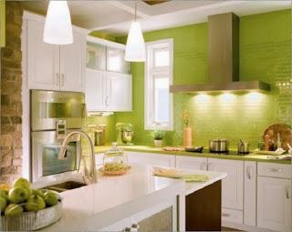 Diseño cocina verde
