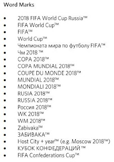 Source: FIFA's Guidelines for the use of Official Marks, November 2016.