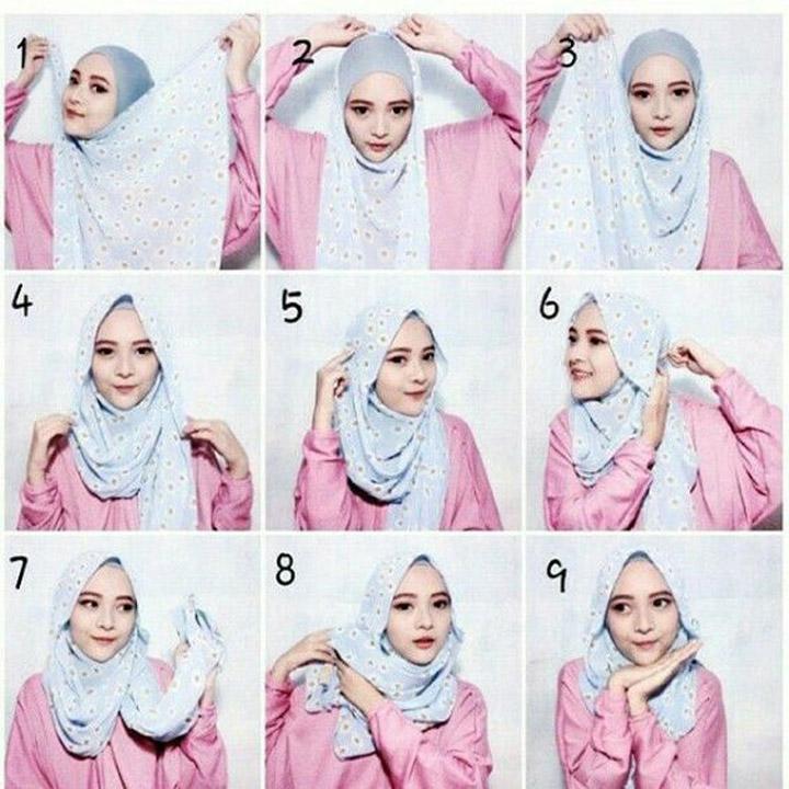 13 Gaya Pakai Tudung dan Shawl untuk Wanita Hijab