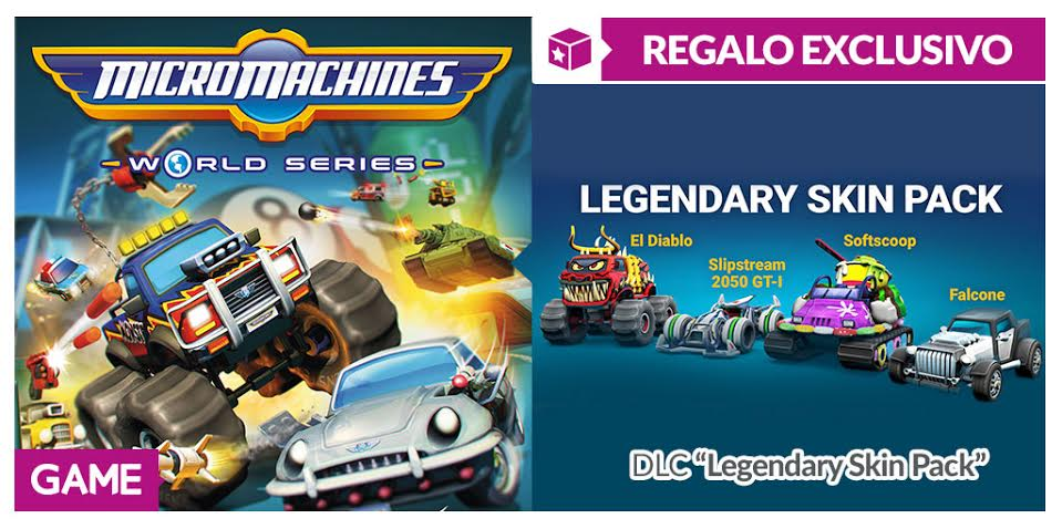 Consigue estas espectaculares skins de MicroMachines World Series con GAME