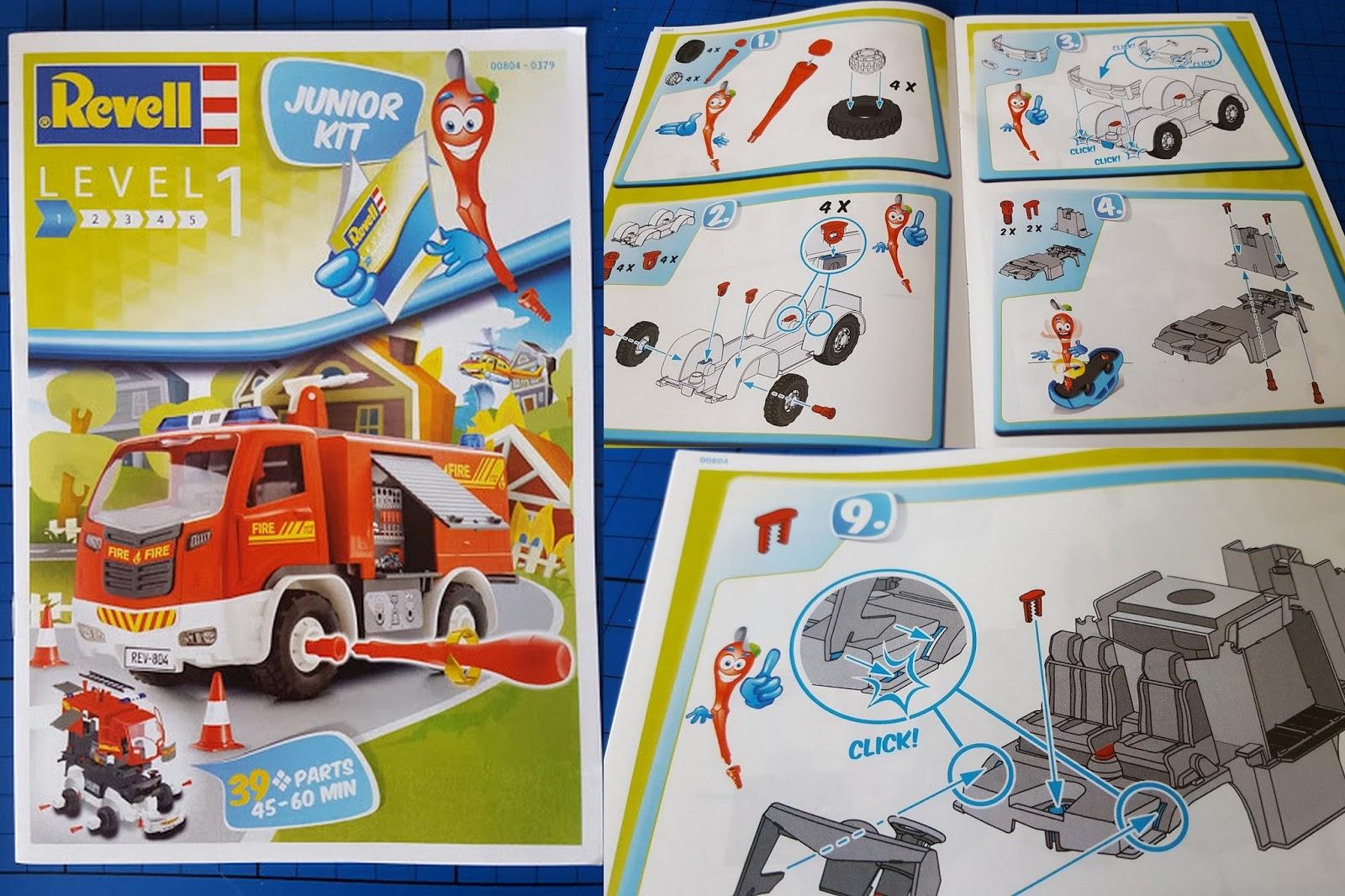 The Brick Castle: Revell Junior Kit Stage 1 Fire Engine Model Kit