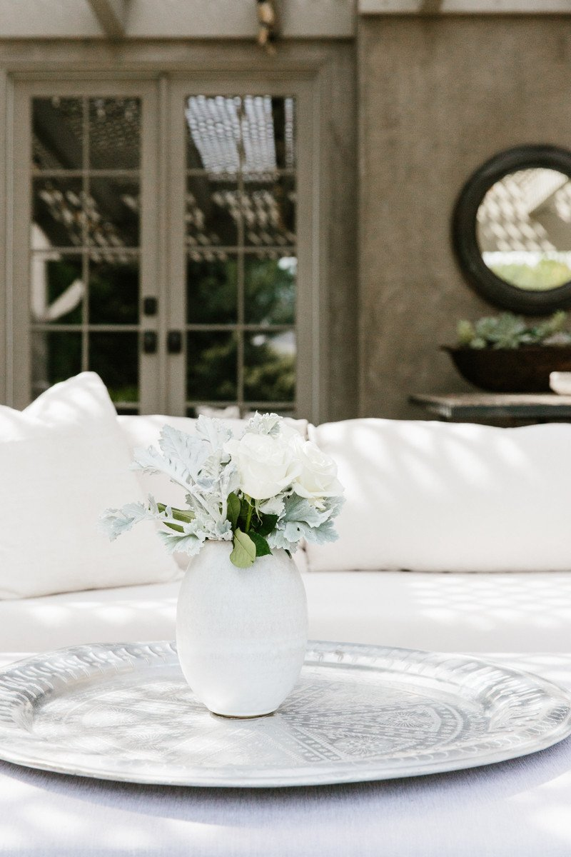 Erin Fetherston's romantic feminine outdoor patio furniture - come explore more California modern farmhouse interior design inspiration!