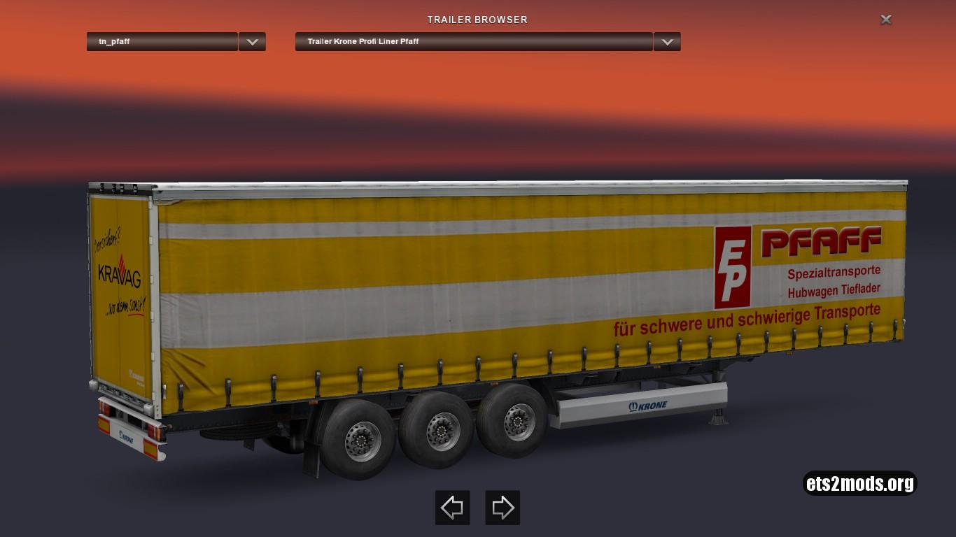 Krone Pfaff Spezialtransporte Trailer
