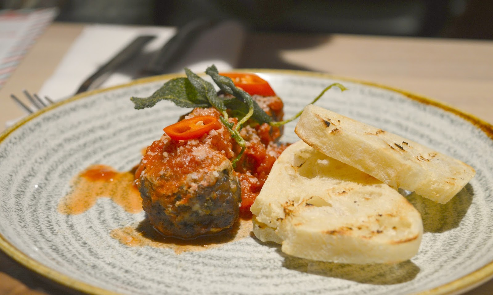 Christmas at the Laundrette, Newcastle - Wild Boar Meatballs