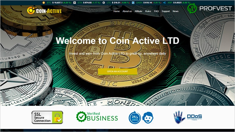 Coin-Active обзор и отзывы HYIP-проекта