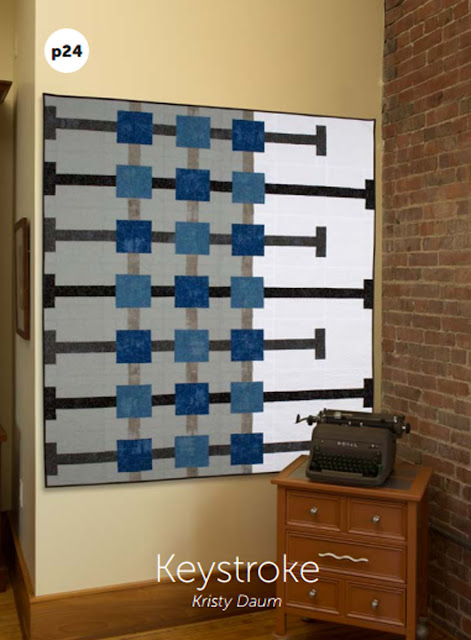 KEYSTROKE Quilt Pattern // Kristy Daum of St. Louis Folk Victorian - as appearing in Modern Quilts Unlimited magazine