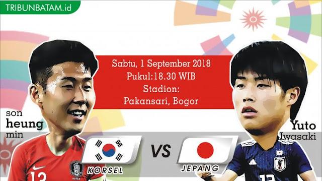 Korea Selatan vs Jepang, Final Ideal di Asian Games 2018, Berikut 5 Catatan Penting