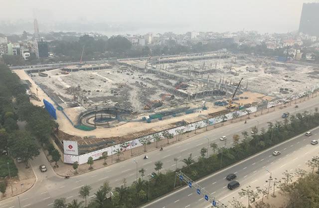 Dự án Lotte Mall Hanoi, Võ Chí Công, Tây Hồ, đối diện Ciputra Hà Nội - trung tâm  thương mại siêu thị mua sắm